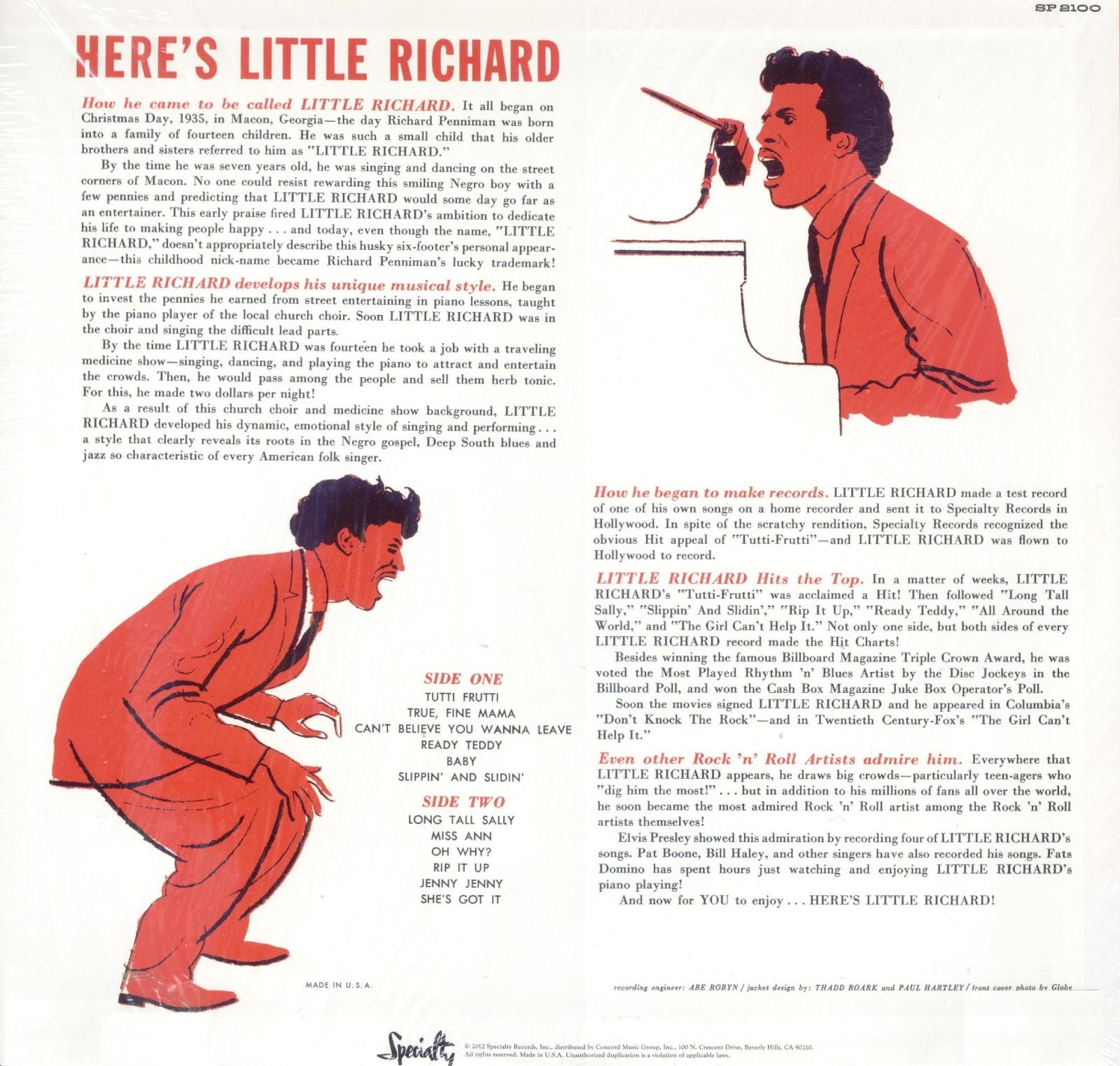 Little Richard - Here's Little Richard - OJO MELÓMANO