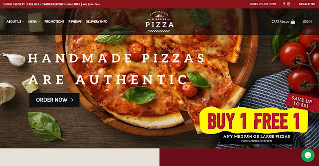 Pizza Delivery handmade pizzas
