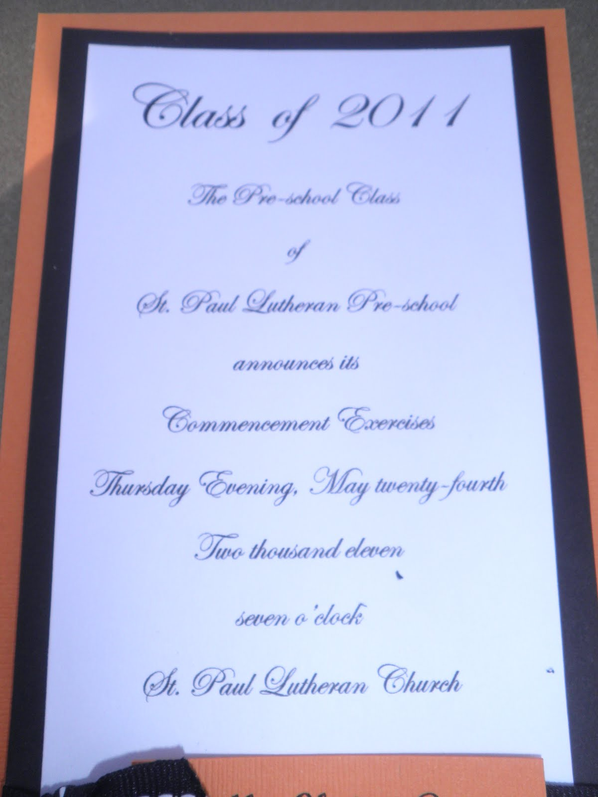 Download Graduation Party Program Agenda