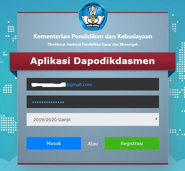 DOWNLOAD APLIKASI DAPODIK TAHUN 2020 SEMESTER GASAL - Sang ...
