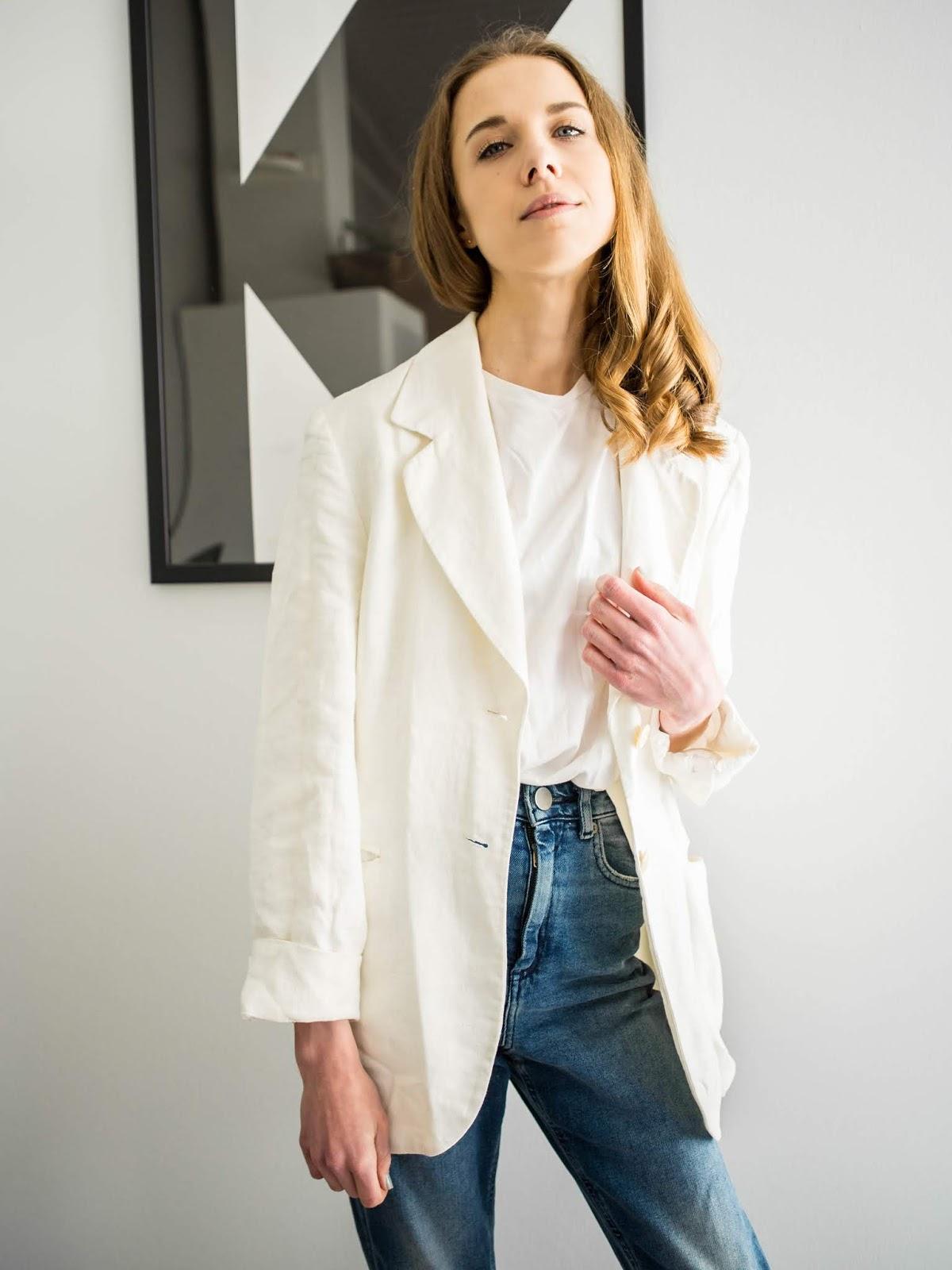 White linen blazer - Valkoinen pellavableiseri