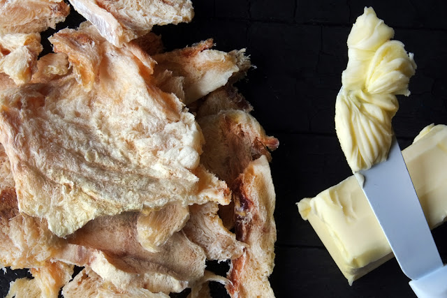 Icelandic dried fish with butter