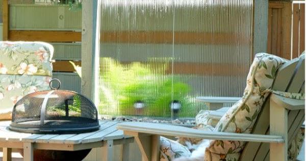 Diy Outdoor Water Wall Privacy Screen Interior Frugalista
