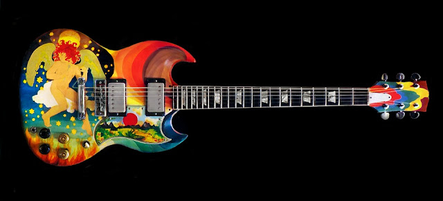 Gibson SG oil painted by The Fool