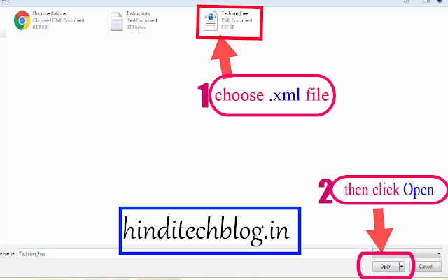 how to upload xml file