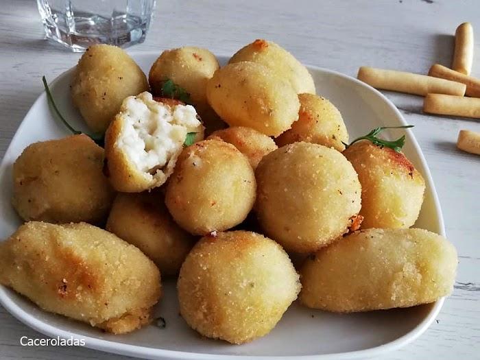 Croquetas de queso ¡Cremosas y muy sabrosas!