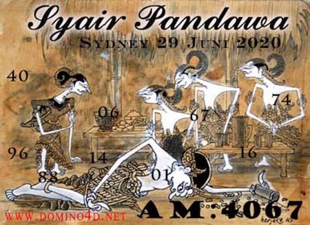 Syair Pandawa Sydney Senin 29 Juni 2020
