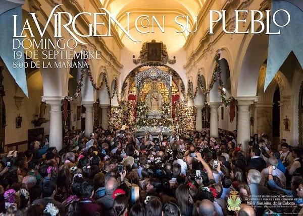 Cartel anunciador del Rosario de Acción de Gracias de María Santísima de la Cabeza Coronada de Rute 2021