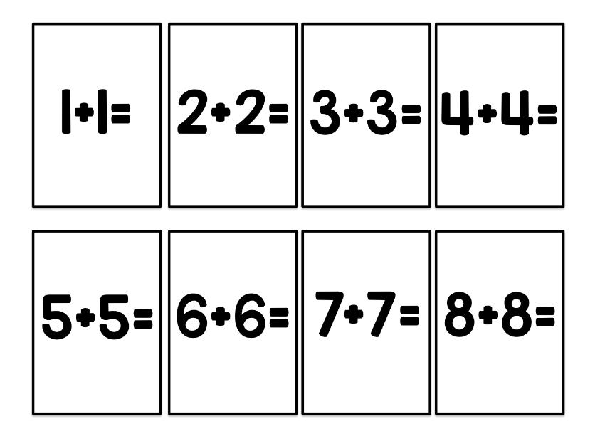 Le cahier de p n lope apprendre les doubles en s 39 amusant - Apprendre les tables d addition en s amusant ...