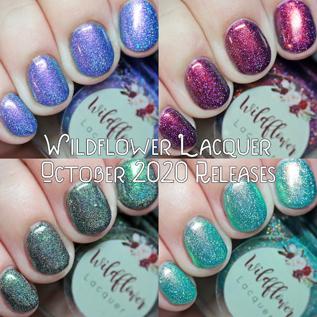 Wildflower Lacquer October 2020 Group Customs and Alzheimer's Awareness Polish