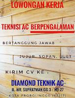 Bursa Kerja di Diamond Teknik AC Probolinggo Terbaru Desember 2019