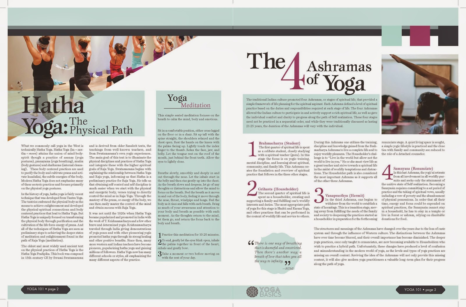 Mock Yoga Newsletter Design