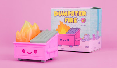 JapanLA Exclusive Dumpster Fire Pepto Pink Edition Vinyl Figure by 100% Soft