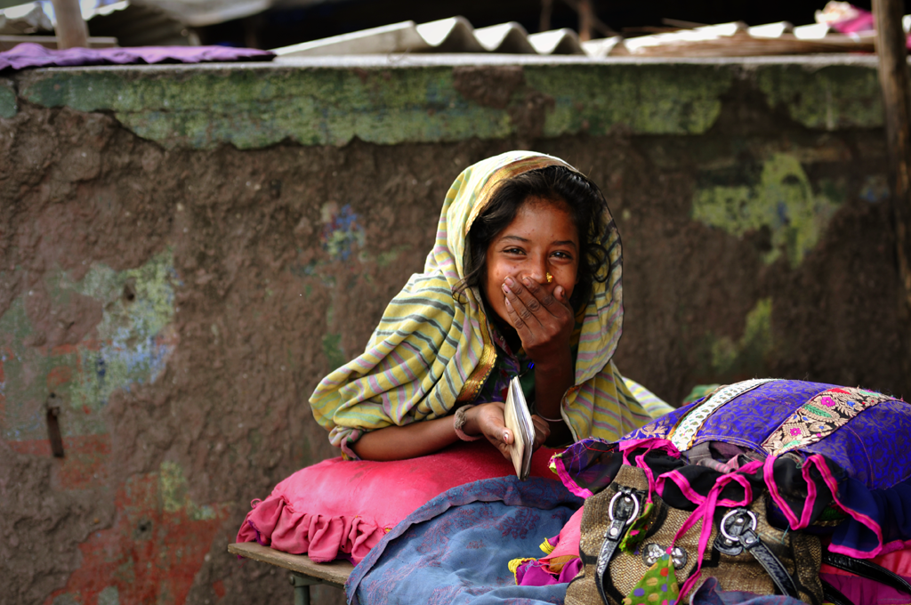 Photo of a gypsy girl in India submitted to the weekly challenge 'Emotions' on Better Photography.