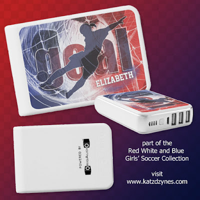 red white blue girls soccer cases and gift collection