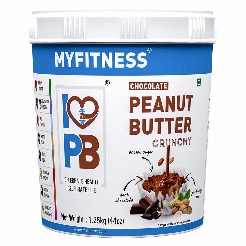 Myfitness Chocolate Peanut Butter Crunchy, 1.25 kg