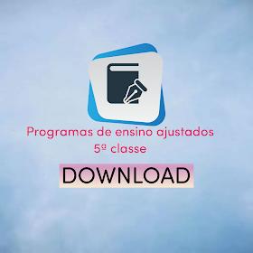 Programas de ensino  5ª classe (reajustado) 2021 PDF