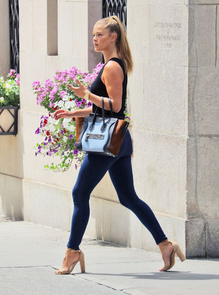 Nina Agdal Casual Style Out in New York