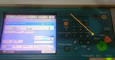 Solusi Lampu tombol start mati namun fotocopy hidup mesin ready