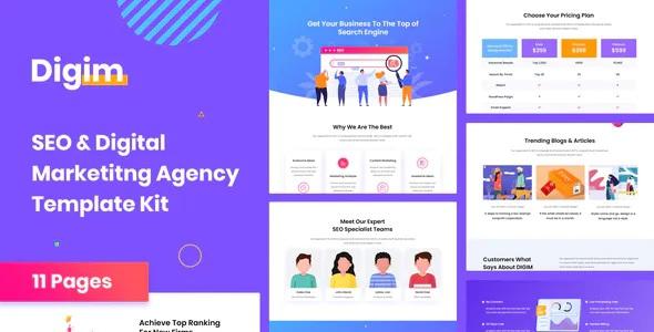 Best SEO & Digital Marketing Template Kit