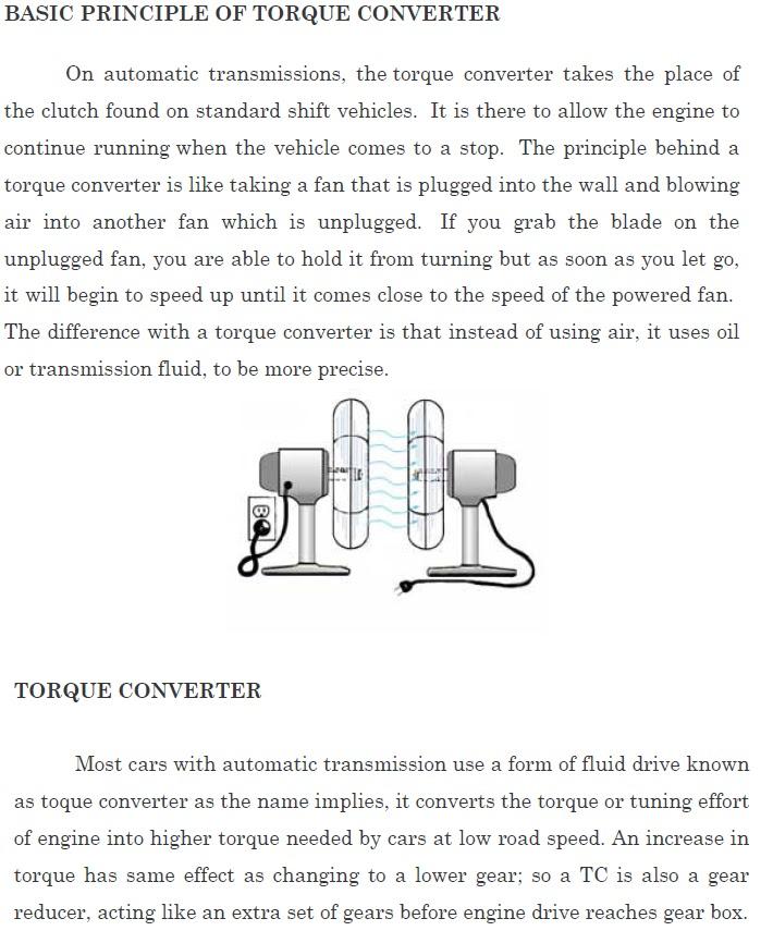 torque convertor