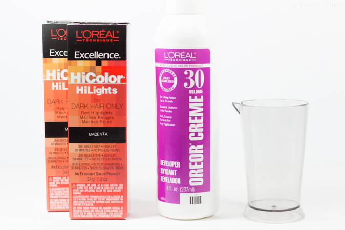 Dyeing my Hair with L'Oreal HiColor in Magenta | A Lovely Allure