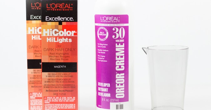 Dyeing My Hair With L Oreal Hicolor In Magenta A Lovely