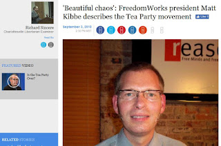 Matt Kibbe FreedomWorks Tea Party Examiner.com Rick Sincere