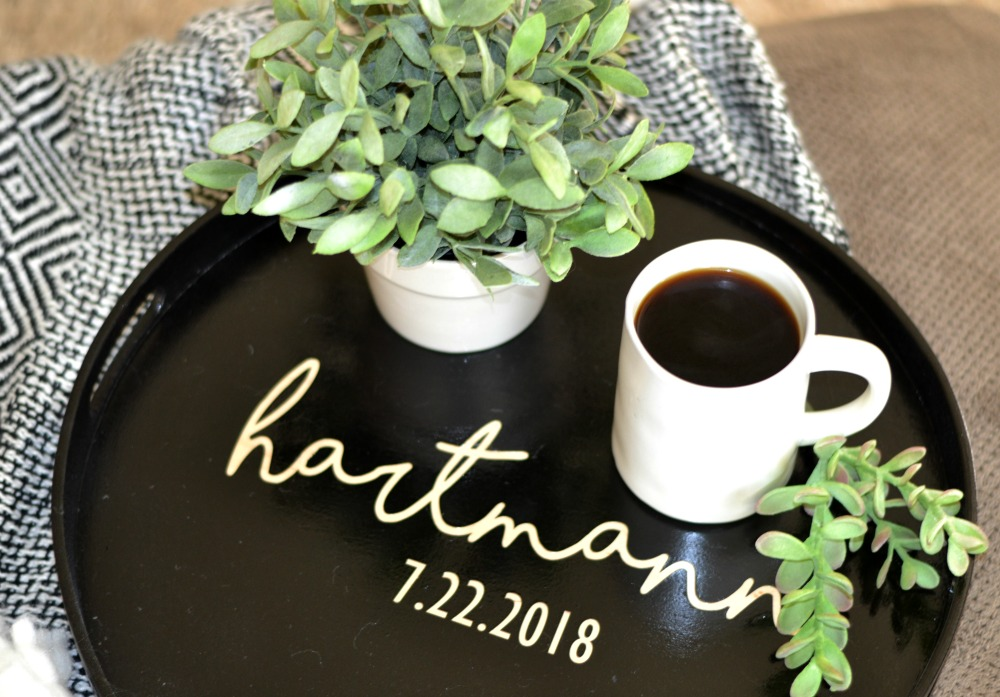 DIY Personalized Wedding Gift Tray