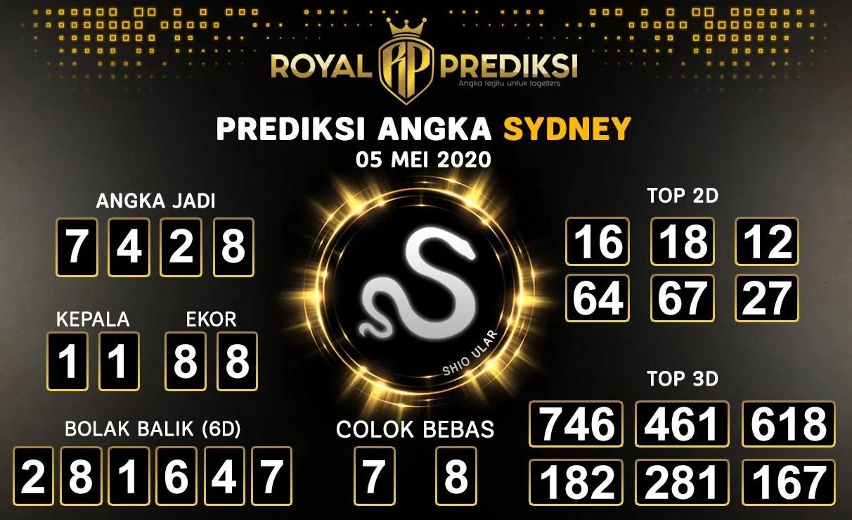 Prediksi Togel Sydney 05 Mei 2020 - Royal Prediksi Sydney