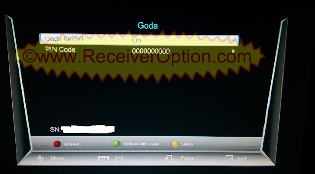 HOW TO ACTIVE GODA SERVER NEOSAT NS-1506HD BUILT IN WIFI RECEIVER