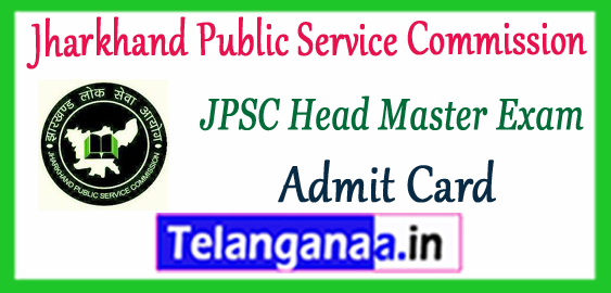 JPSC Jharkhand Public Service Commission Head Master Admit Card 2017 Answer Key Result