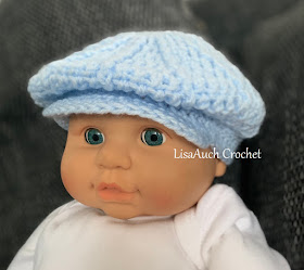free baby crochet patterns brimmed baby hat- peaky blinders style hat pattern