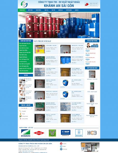 Template blogspot công ty bán hóa chất
