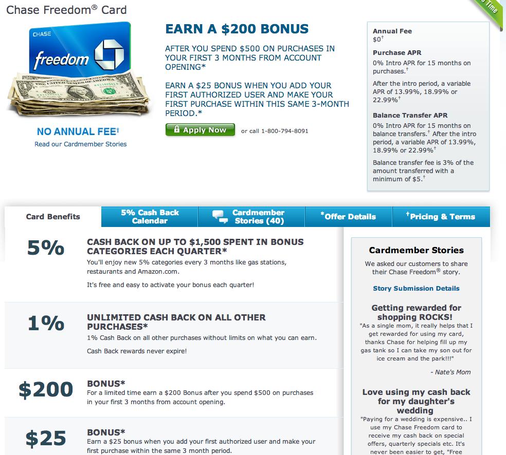 Green Espirit: Chase Freedom Bonus 20000 + 2500 UR Points