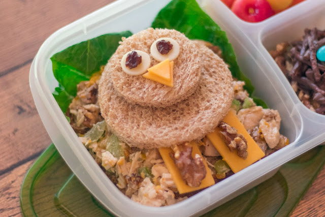 How to Make a Bird Themed School Lunch featuring California Walnuts