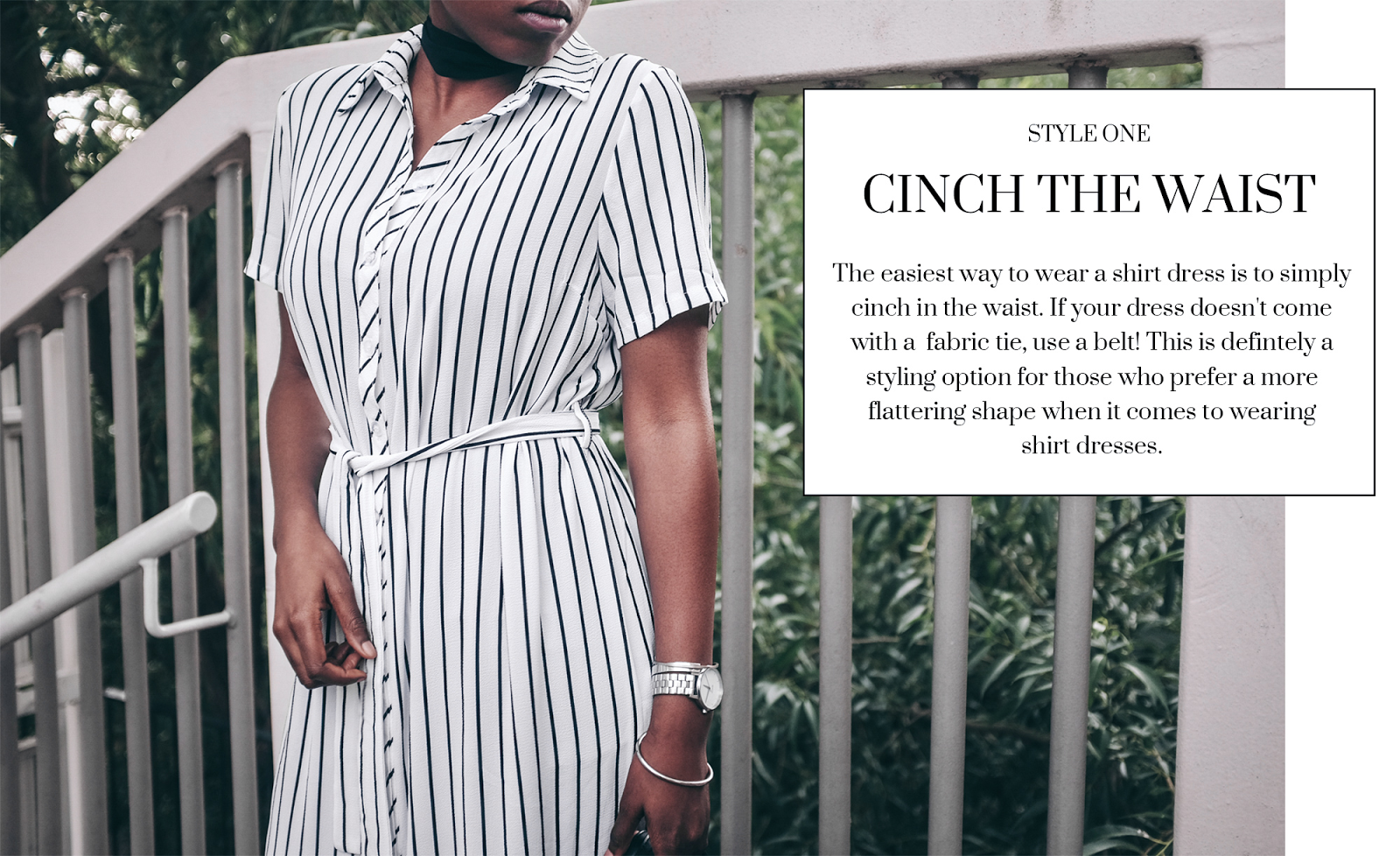 How to Style a Shirt Dress in Three Ways