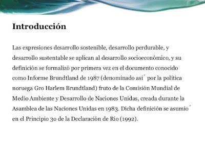 introducción desarrollo sostenible