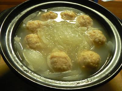ミニ鍋・春雨スープ完成