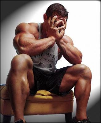 A depressed bodybuilder.