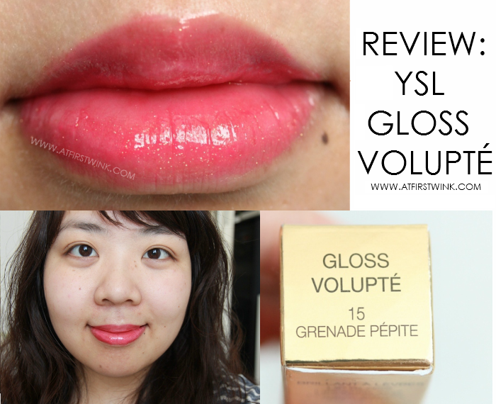 YSL gloss volupté 15 - grenade pépite lip swatch