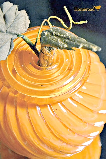 light globe pumpkin with stem