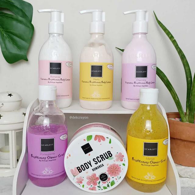 3 langkah mencerahkan kulit dengan scarlett whitening body scrub, shower scrub,