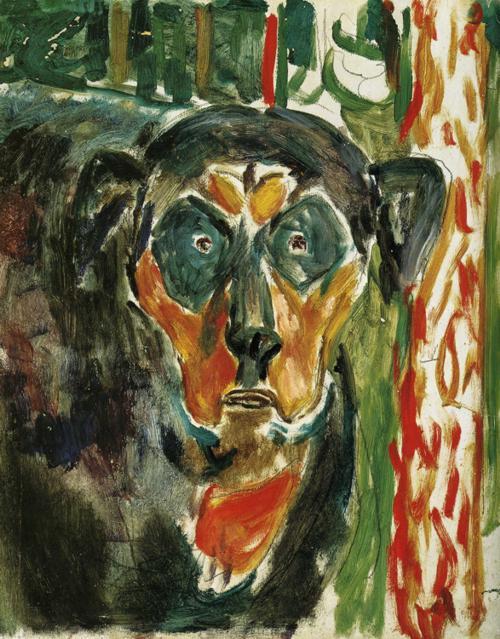 Эдвард Мунк - Голова собаки. 1930