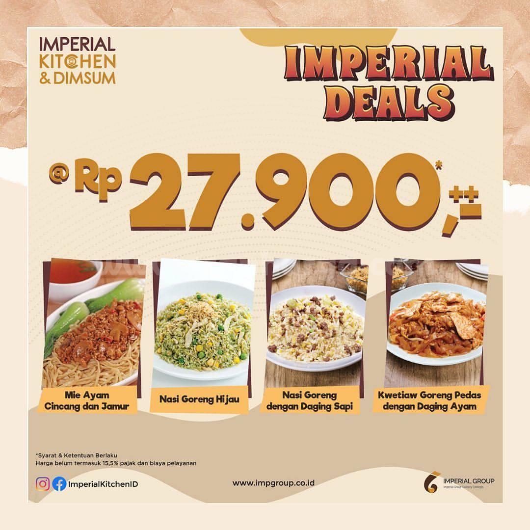 IMPERIAL KITCHEN Promo IMPERIAL DEALS cuma Rp 27.900