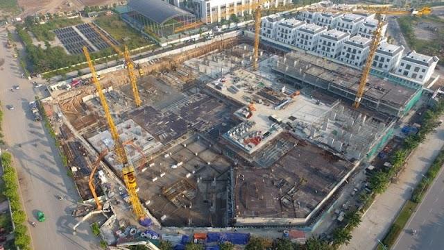 Tiến độ xây dựng chung cư nhà ở xã hội Hope Residences Phúc Đồng
