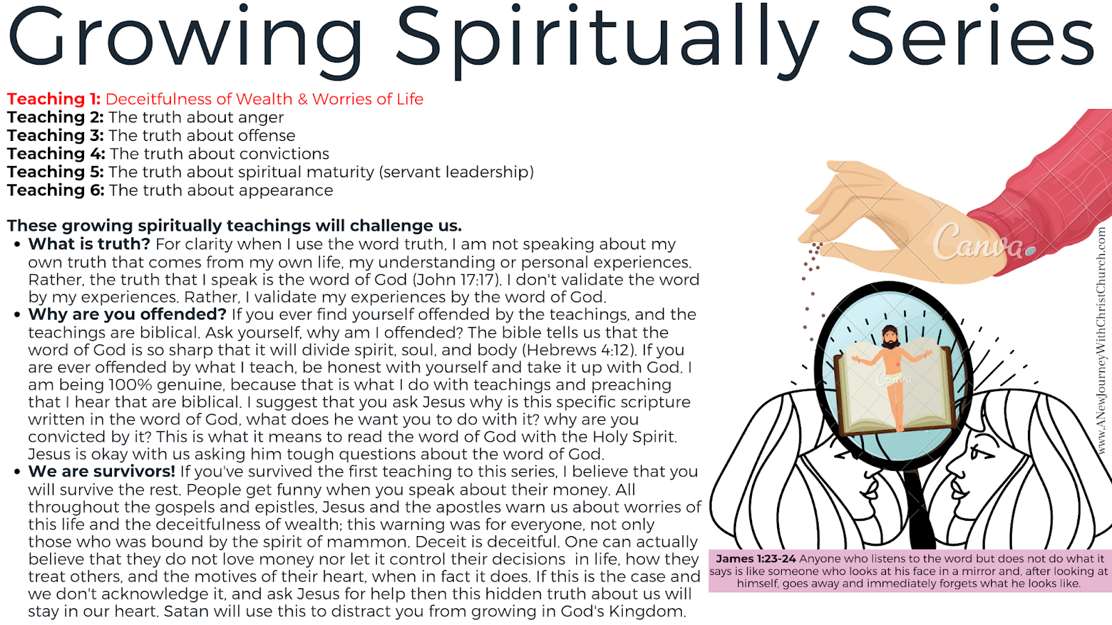 Growing Spiritually 1 of 6: The worries of this life & The deceitfulness of wealth