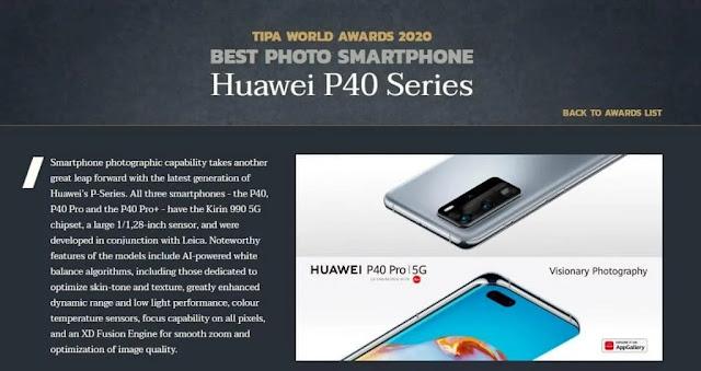 Huawei P40 Series Memperoleh Penghargaan TIPA untuk Hasil Foto Terbaik Yang Diambil Dengan Smartphone