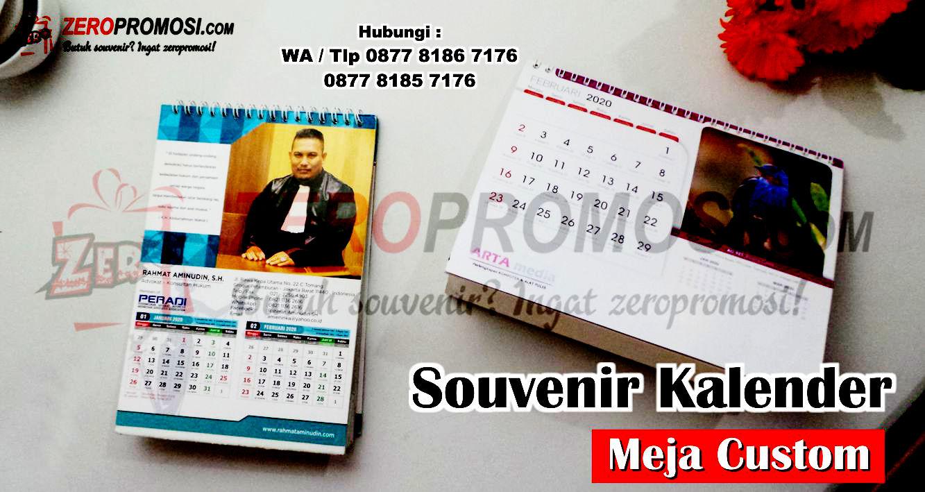Cetak Kalender Duduk Promosi Murah Custom, Kalender duduk meja custom, Souvenir Desk Calendar, kalender promosi