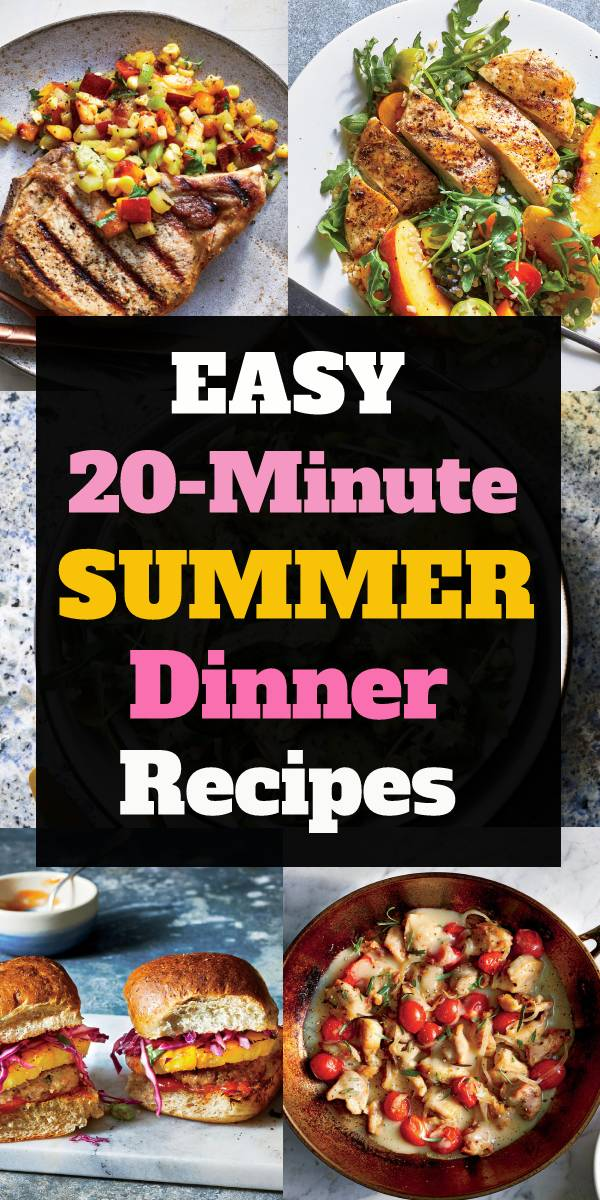 Easy 20-Minute Summer Dinner Recipes - Celebrate summer with these easy healthy 20-minute dinners that shine with seasonal fresh produce. Check this out. | www.holidayrecipes.xyz #summerrecipe #summerfood #grilled #grillingrecipe #dinnerrecipe #summerdinnerrecipe #easydinnerrecipe #healthydinnerrecipe
